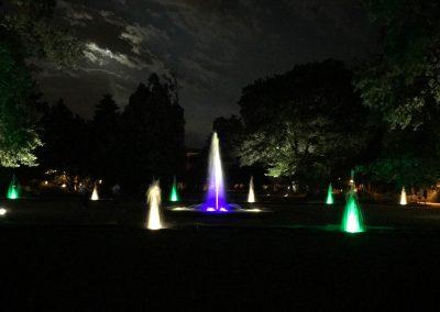 Brunnenbeleuchtung Fontänenhof Stadtpark Fürth